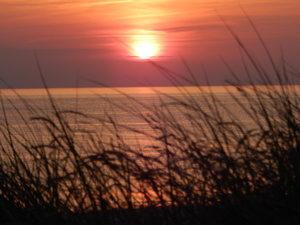Sonneruntergang an der Nordsee
