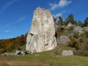 Fels Burgstein bei Dollnstein im Altmühltal