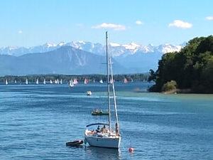 Radreisen in Deutschland, z.B. vorbei am Starnberger See mit Alpenblick