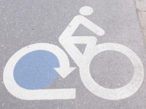 Straßenmarkierung Bodensee-Radweg
