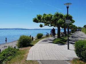 Bodensee-Uferpromenade in Friedrichshafen