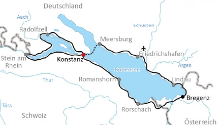 Karte Bodensee Sportlertour
