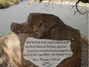 Weser mit Weserstein