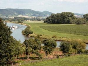 Landschaft am Weser-Radweg